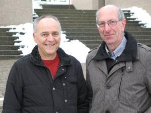 Paul Sonderegger (links) übernimmt das Präsidium von Hans Hochreutener (rechts). (Bild: zvg)