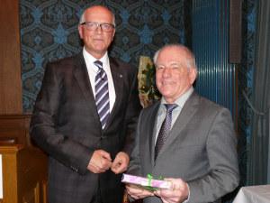 Stadtammann Andreas Netzle und Bürgermeister Gottfried Moser (r.). (Bild: zvg)