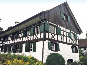 Mit äusseren Malerarbeiten erhalten die Gessner Malermeister die Bausubstanz. (Bild: zvg)