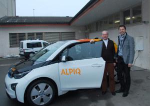 Stadtrat David Blatter (l.) und Roland Haerle, Leiter Energiemarkt der TB Kreuzlingen. (Bild: zvg)
