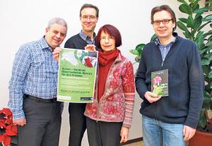 Damian Brot, Gunnar Brendler, Elisabeth Hofmann und Thomas Bachofner orientierten über das Programm in der Passionszeit. (Bild: Thomas Martens)