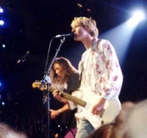 Kurt Cobain, Sänger der Band Nirvana, um 1992. (Bild: wikipedia)