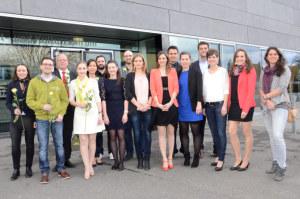 Erfolgreiche Diplomandinnen und Diplomanden. (Bild: zvg)