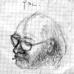Selbstbildnis des Malers aus einem Tagebuch. (Bild: sb)