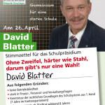 Wer hat das getextet? David Blatters neues Wahlplakat steht in der Kritik. (Bild: klz)
