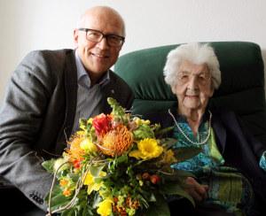 Emma Fuerst wurde heute 100 Jahre alt. (Bild: zvg)