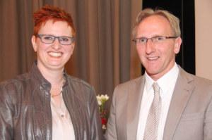 Die neu gewählte Präsidentin, Barbara Dätwyler Weber und Andreas Miller, Vizepräsident. (Bild: zvg)