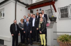 Die Spitzen der grossen Verbände trafen sich mit Regierungsrat Kaspar Schläpfer, Vorsteher des Volkswirtschaftsdepartements, zu einer Aussprache in Weinfelden. (Bild: zvg)