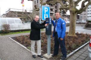 Stadtrat David Blatter (l.) und Albert Schuler, Leiter der Stadtpolizei. (Bild: zvg)
