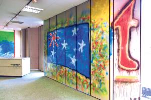 Auch der Eingangsbereich wurde künstlerisch gestaltet. (Bild: zvg)