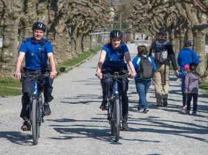 Beim Kantonspolizeiposten Kreuzlingen sind seit einigen Wochen zwei E-Bikes im Einsatz. (Bild: Kapo TG)