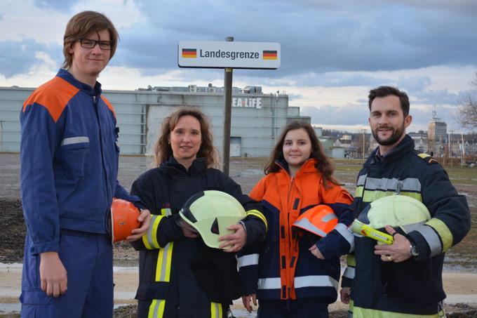 An der GEWA vom 7. bis 10. Mai treten die Feuerwehren Kreuzlingen und Konstanz gemeinsam unter dem Motto «Stille Helden grenzenlos» auf. (Bild: zvg)