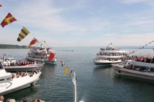 Schiffe aus Deutschland, Österreich und der Schweiz treffen sich zur Sternformation. (Bild: zvg)