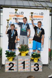 Michael Fehr aus Müllheim, gewinnt vor seinem Bruder Fabian und Lukas Flum aus Oberhofen. (Bild: zvg)