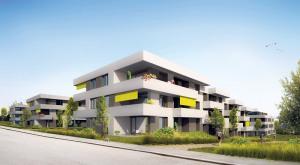 83 Wohnungen sollen oberhalb des Bahnhofs Bernrain entstehen. (Bild: zvg)