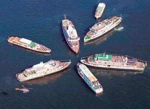 Die Bodensee-Schiffe treffen sich am 25. April vor Kreuzlingen.(Bild: zvg)