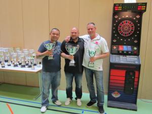 SM Open Herren (v.l.n.r.): William Diethelm, Fernando Migliore, Sven Geiger. (Bild: zvg)