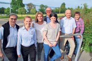 Vorstand und Geschäftsführung von Kreuzlingen Tourismus (v.l.): Urs Raible, Nicole Esslinger, Silvia Cornel, Andreas Netzle, Karin Jucker, Jörg Sinniger und Christian Walz. (Bild: Thomas Martens)