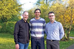 Tim Sondermann, Michael Kuntzemüller und Sasa Köhler (v.l.) sind neu im Vorstand des Quartiervereins Emmishofen. (Bild: sb)