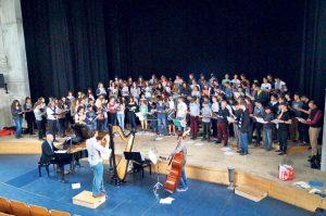 Die Proben für die Konzerte am Wochenende sind in vollem Gange.  (Bild: zvg)