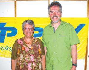 Brigitte Haldimann und der scheidende Präsident Thomas Leuch. (Bild: sb)