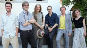 Geförderte Thurgauer Kulturschaffende (v.l.n.r.): Philippe Glatz, Meinrad Schade, Simone Kappeler, Niculin Janett, Gabor Nemeth, Rahel Kraft (nicht auf dem Bild Joëlle Allet). (Bild: Mario Gaccioli)