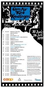 Das Programm des Open Air Kinos Kreuzlingen. (Bild: zvg)
