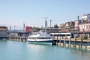 Ein Ausflug führt zum Romanshorner Hafen.