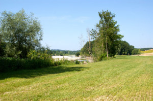 Der Lauf der Zeit: Innerhalb eines Jahrzehnts hat sich dank der wieder zugelassenen natürlichen Dynamik der Thur das Landschaftsbild markant verändert – oben 2003, unten 2012. (Bild: zvg)