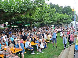 Hauptfestplatz Rheinfest direkt am Rhein. (Bild: zvg)