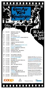 Das Programm des Kreuzlinger OpenAir Kinos. (Bild: zvg)