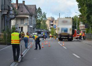Beim Unfall wurde die Fussgängerin schwer verletzt. (Bild: Matthias Graf, Kapo TG)