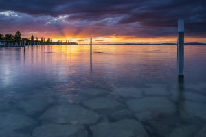 Cyrill Schlauri überzeugte mit seinem Bild vom Sonnenuntergang in Altnau. (Bild: Cyrill Schlauri )