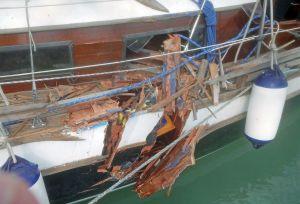 Bei der Kollision mit einem Fahrgastschiff wurde niemand verletzt.(Bild: Kantonspolizei Thurgau)
