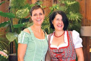 Auch herbstlich gekleidet: Sonja Mösli (l.) und Sabine Röhrig.(Bilder: zvg)