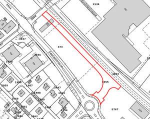 Die Stadt hat die Parzelle Nr. 3184 sowie Nr. 6655 gekauft. (Bild: Geoinformation Kanton Thurgau)