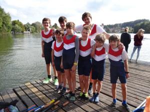 Die jungen Ruderer des Ruderclubs Kreuzlingen in Bad Waldsee. (Bild: zvg)