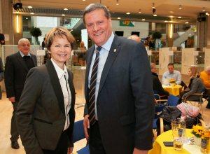 Die bisherigen Thurgauer Ständeratsmitglieder sind auch die neuen: Brigitte Häberli, CVP, und Roland Eberle, SVP. (Foto: Mario Gaccioli)