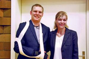 Die Katholische Kirchgemeinde hat einen neuen Kirchenpfleger: Cornelia Helg übergibt das Zepter an Simon Tobler aus Kreuzlingen. (Bild: sb)