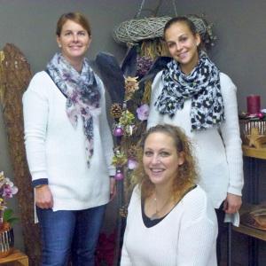 Das neue Kreativ-Team: Esther Stäheli (v.l.), Olivia Graf und Lara Conradt.(Bild: dh)