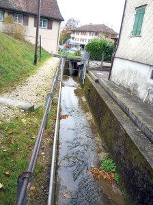 Der Hochwasserschutz soll verstärkt und der Zugang zum Chogebach verbessert werden. (Bild: Bauverwaltung)