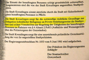 Der Regierungsratsbeschluss von 2011. (Bild: zvg)