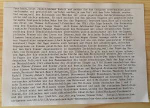Der Holocaust als Geld-Erpressungs-Industrie. (Bild: zvg)