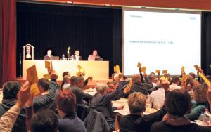Die Bottighofer Stimmbürger beschlossen eine Steuefussreduktion um drei Prozent.(Bild: ek)
