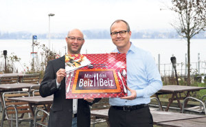 Gastgeber Reto Eppenberger (l.) und Stammgast Thomas Gut.(Bild: zvg)