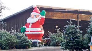 Nicht zu übersehen: der fünf Meter hohe Weihnachtsmann.(Bild: zvg)