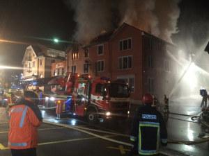 Beim Brand wurden insgesamt vier Personen verletzt. (Bild: Matthias Graf, Kapo TG)
