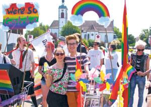 Es geht auch anders: Demo für Toleranz am CSD 2015. (Bild: sb)