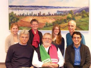 (V.l.) Linda Heeb, Adrian Heeb, Brigitta Engeli, Jost Rüegg, Hope Läubli, Stephan Hugentobler, Hassan Elayoubi. (Bild: zvg)