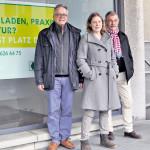 Gute Idee: Die SP-Gemeinderäte Andreas Hebeisen (l.) und Christian Winterhalter sowie Architektin Elina Müller wollen, dass der Stadtrat eine Um- und Zwischennutzungsagentur ins Leben ruft. (Bild: zvg)